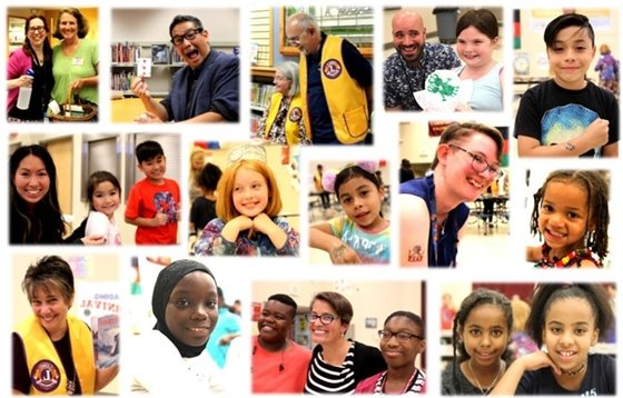 Photo collage of adults and children who attended the summer reading celebration