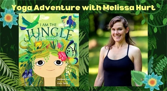 Graphic showing the book cover of I Am the Jungle by Melissa Hurt along with a photo of the author