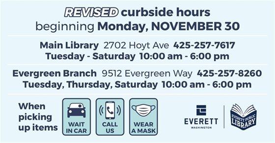 Revised curbside beginning Monday, Nov 30
