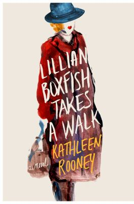Cover of the book Lillian Boxfish Takes a Walk showing a painting of a woman in a red coat with a bl