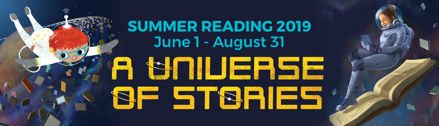 Summer Reading Banner, A Universe of Stories