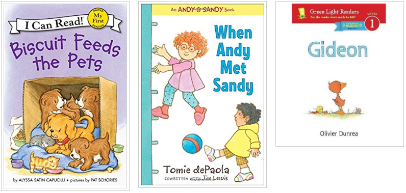 Three Books - Biscuit Feeds the Pets and When Andy Met Sandy and Gideon