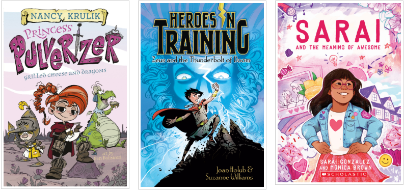 Three Books - Princess Pulverizer and Heroes in Training and Sarai