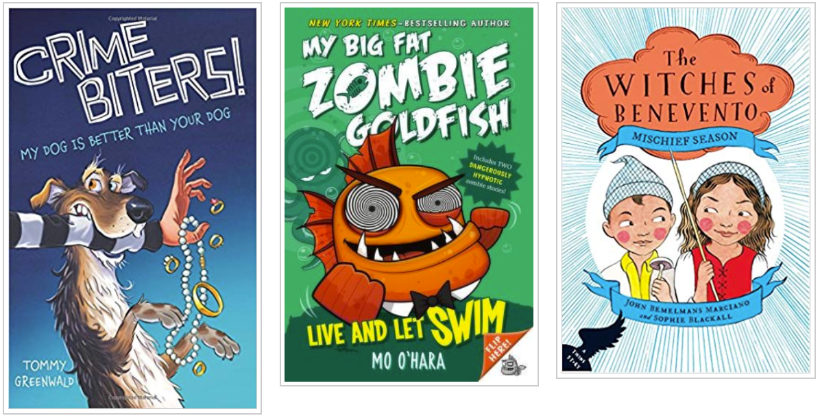 Three Books - Crime Biters and My Big Fat Zombie Goldfish and The Witches of Benevento