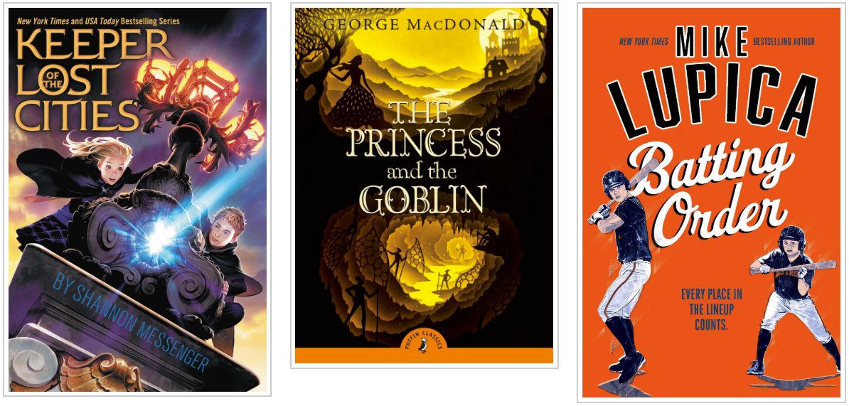 Three Books - Keeper of the Lost Cities and The Princess and the Goblin and Batting Order