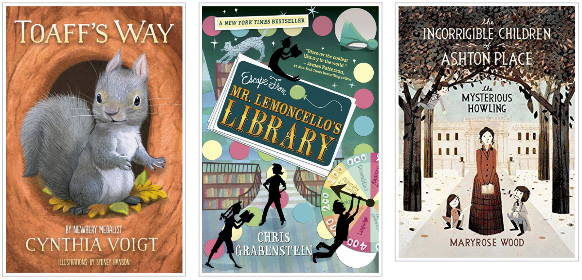Three Books - Toaffs Way and Escape From Mr Lemoncellos Library and The Incorrigible Children of Ash
