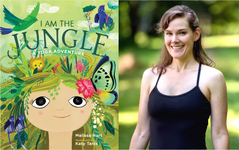 "Book cover of ""I Am the Jungle"" by Melissa Hurt and photo of the author standing outdoors"