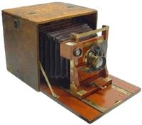 brown antique camera