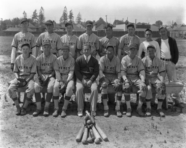 Group photo of American Legion Baseball team circa 1935