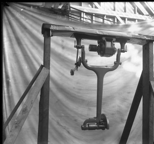 black and white photo of 48-inch swing cut-off saw