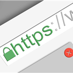 graphic of web browser address bar with an https web address