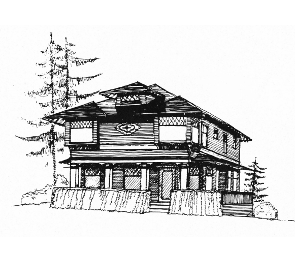 A black and white line drawing of a house Opens in new window